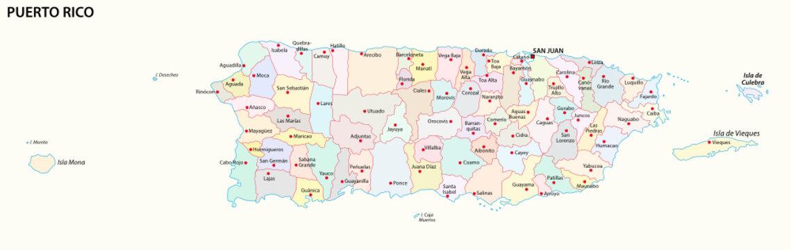 puerto rico administrative map