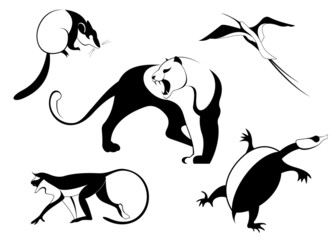 Decor animal silhouette illustration collection