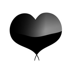 Black heart. White background. EPS 10. Valentine's day