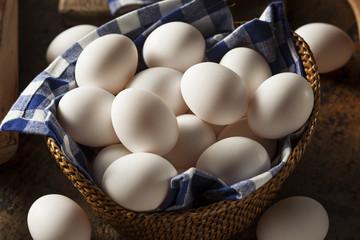 Raw Organic White Eggs