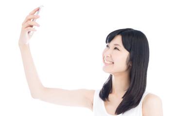 写メを撮る女性