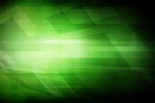 Abstract dark green technology background.