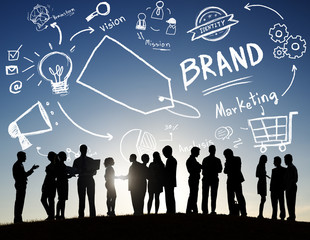 Business People Meeting Outdoors Brand Marketing Concept