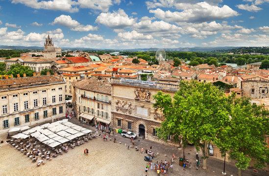 Medieval town Avignon, France
