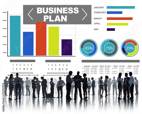 business plan graph brainstorming strategy idea concept stock photo
