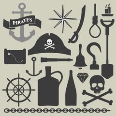 pirates icons set