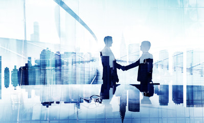 Businessmen Handshake Agreement Support Unity Welcome Concept Wall mural