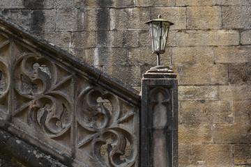 alt Lampe Treppe