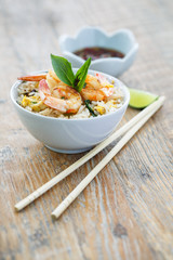 Riz frit ou fried rice, Thailande