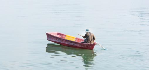 Traditional boat at fisherman village