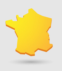 yellow France map icon