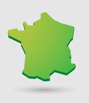 green France map icon