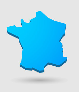 blue France map icon