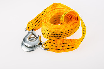 towing rope on white background.