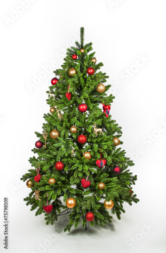 geschm ckter weihnachtsbaum stockfotos und lizenzfreie bilder auf bild 75798509. Black Bedroom Furniture Sets. Home Design Ideas