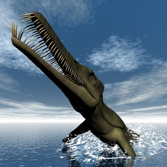 Mesosaurus dinosaur - 3D render