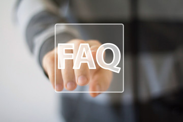 Business button sign FAQ connection signal icon