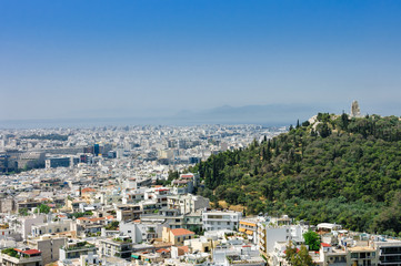 Athens city and monastery
