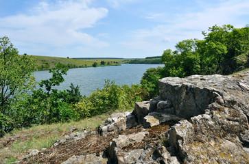 rock coast of the river