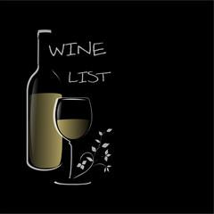 Wein Karte Silhouette