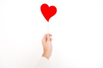 hand holding an heart horizontal