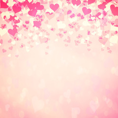 Beautiful pink color heart background
