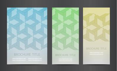 Modern vector abstract brochure. Design layout template.