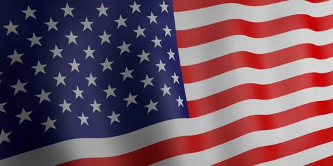 3d illustration. Flag of United states