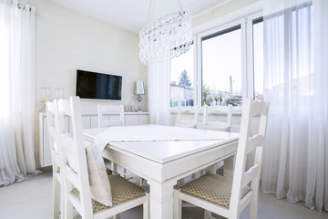Dining room at new home