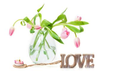 Tulpen, Love, Kerze