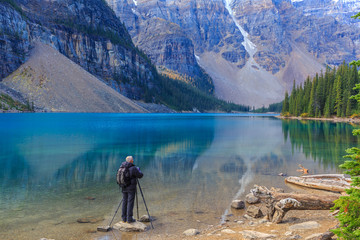 Photographer at Moraine Lake