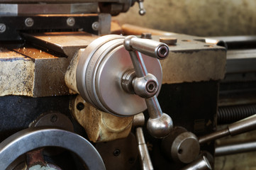 Details of a machine, old and used.