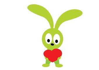 królik z sercem