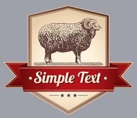 label sheep