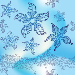 Seamless pattern with starfish
