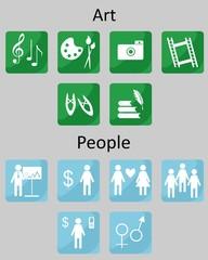 icons Art People