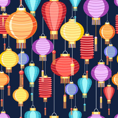 pattern Chinese lanterns