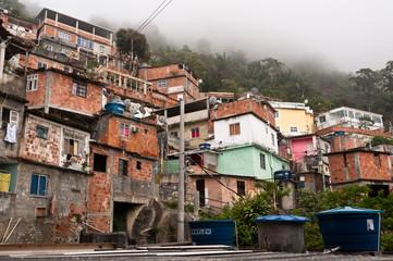 Fragile Residential Structures of Slum Vidigal in Rio de Janeiro