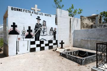 Voodoo-Stätte mitten auf Zentralfriedhof, Port-au-Prince, Haiti