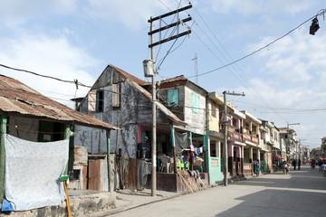 Traditionelle Holzhäuser, Jéremié, Haiti