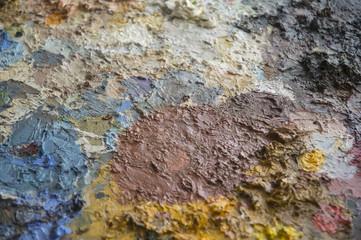Oil paint on palette
