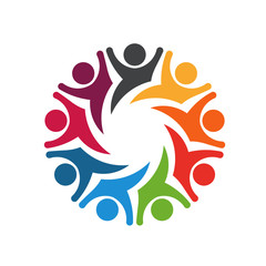Happy Team group people 8 image logo
