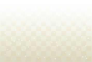 プラチナ色の市松模様と紙吹雪