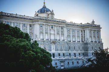 Touristic city, Royal Palace of Madrid, located in the area of t