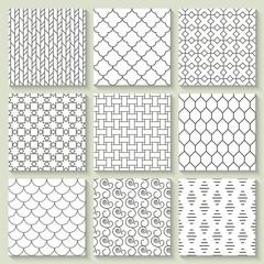 Thin line geometrical seamless pattern