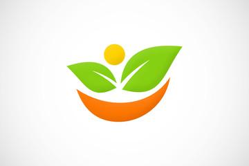 vegetarian leaf logo