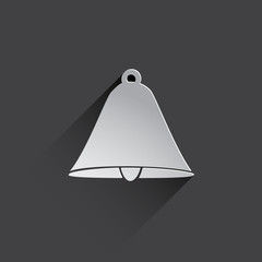 bell web flat icon.