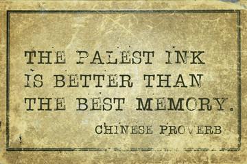 palest ink print