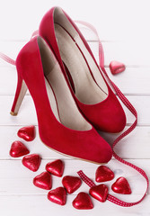 Valentine day collection in red