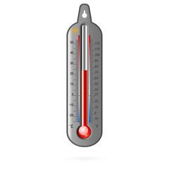 Dark thermometer. Raster
